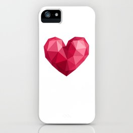 Polygonal heart iPhone Case
