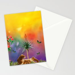 The Lion Family In The Magical Jungle Stationery Cards