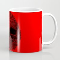 grand theft auto Mugs featuring Identity theft by Ismael Sandiego