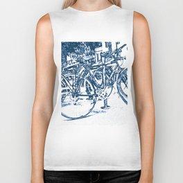 Blue Bicycles Biker Tank