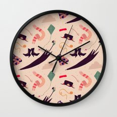 Practically Perfect Pattern Wall Clock