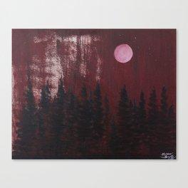 Blood Moon Canvas Print