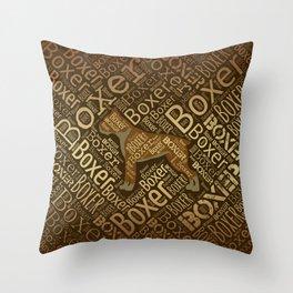 Boxer dog Word Art Throw Pillow