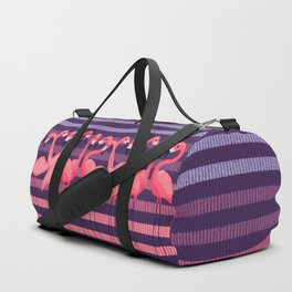 FUN STRIPES WITH FLAMINGOS Duffle Bag