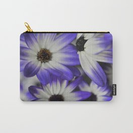 Blue & White Daisy Flowers #1 #floral #decor #art #society6 Carry-All Pouch