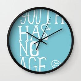 Youth Has No Age (Blue) Wall Clock
