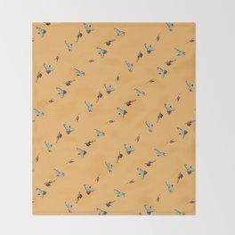 Flying Birds Upon Sunrise Throw Blanket