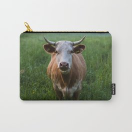 COW - FIELD - GREEN - VALLEY - NATURE - PHOTOGRAPHY - LANDSCAPE Carry-All Pouch