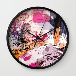7: a vibrant abstract in jewel tones Wall Clock