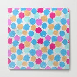 Rainbow Spots Circle Pattern Metal Print