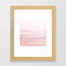 Pink Pastel Strokes Framed Art Print