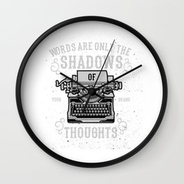 Shadows Of Thoughts Wall Clock