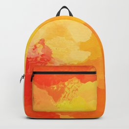 Colorful Abstract - red orange pattern Backpack