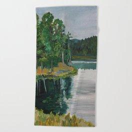 Sheridan Trees Beach Towel