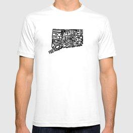 Typographic Connecticut T-shirt