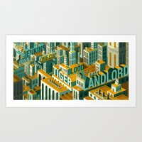 meme Art Prints featuring 'Meme City' by Justin Claus Harder