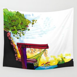 Gypsy River Architectural Illustration 89 Wall Tapestry