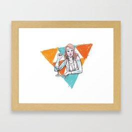 flapper Framed Art Print