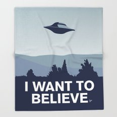My X-files: I want to believe poster Throw Blanket
