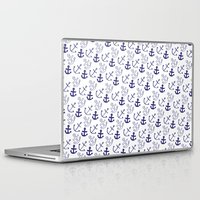 anchors Laptop & iPad Skins featuring Anchors by Sarah Liddell