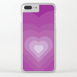 Purple heart Clear iPhone Case