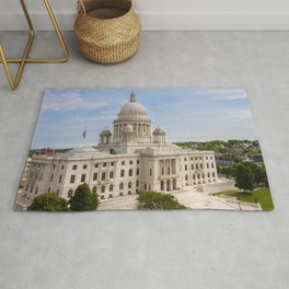 State House Capital Building of Providence, Rhode Island Rug