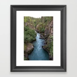 Alaska River Canyon - I Framed Art Print