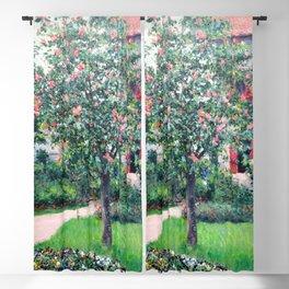 "Gustave Caillebotte ""Arbre en fleur - Flowering tree"" Blackout Curtain"