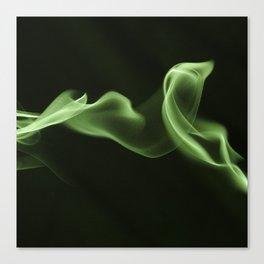 Green Smoke Pattern Canvas Print