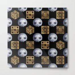 Chibi Pinhead & Puzzle Boxes Metal Print