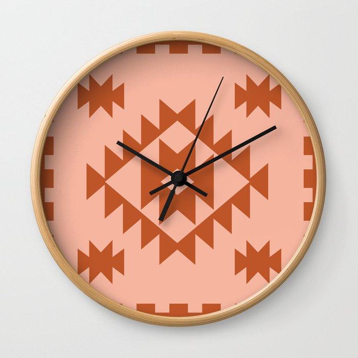 Zili in Peach Wall Clock