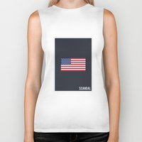 scandal Biker Tanks featuring Scandal - Minimalist by Marisa Passos
