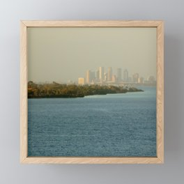 A Cities Coast Line Framed Mini Art Print