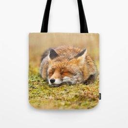 Comfortably Fox (red fox sleeping) Tote Bag