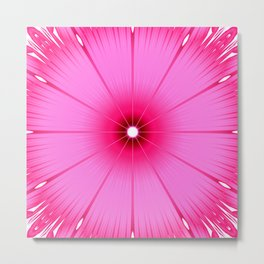 Bright Pink Flower Metal Print