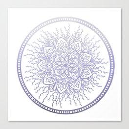 Lavender Nature Mandala Canvas Print