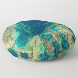 Colours of the Reef Floor Pillow