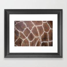 Giraffe pattern Framed Art Print