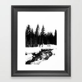 St. Helens Snowshoe + River Framed Art Print