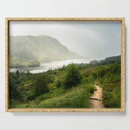Scottish Highlands Landscape Panorama Serving Tray