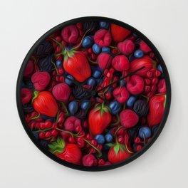 Bush Fruits Wall Clock