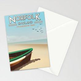 Norfolk Vintage Style travel poster Stationery Cards