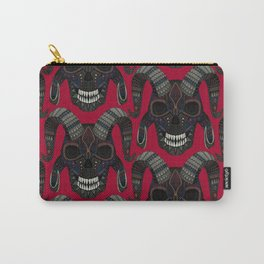 demon skull red Carry-All Pouch