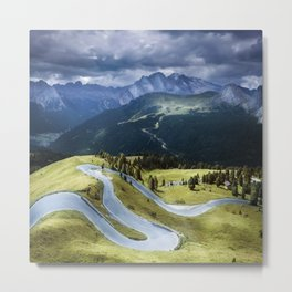 Winding road in a mountains Metal Print