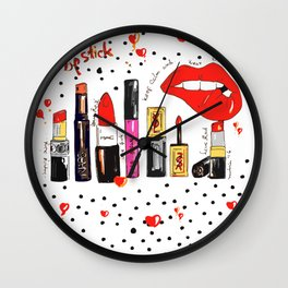 Lipstick Love Wall Clock