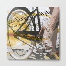 Bike Urban Chic Metal Print