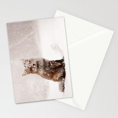 Fairytale Fox _ Red Fox in a Snow Storm Stationery Cards
