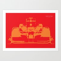 f1 Art Prints featuring Fast F1 by AJ Richards