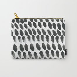 Black and White Abstract Watercolor Painting Carry-All Pouch