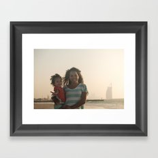 Stef and Lilo Framed Art Print